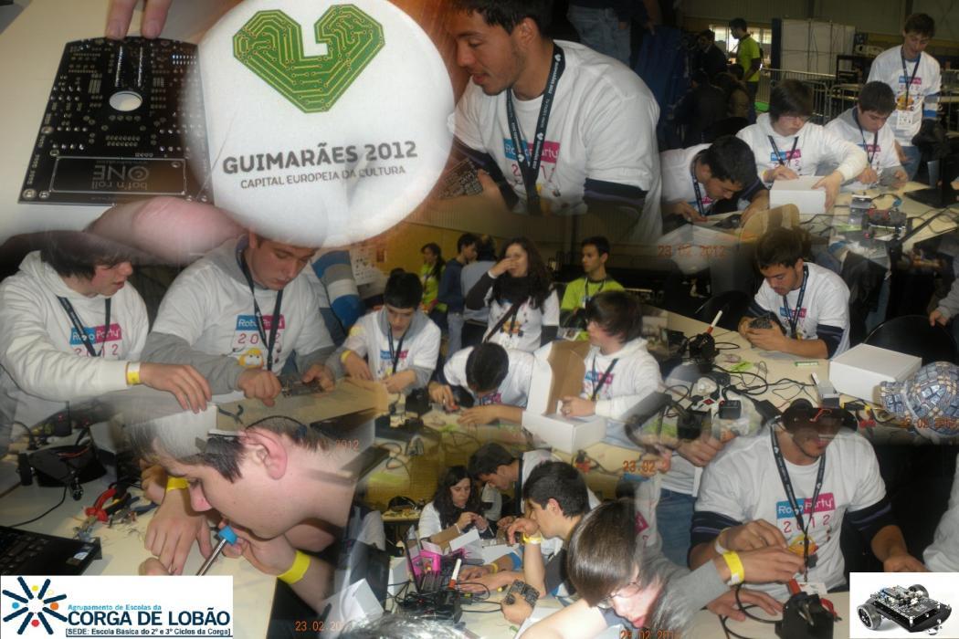 Agrupamento de Escolas da Corga presentes no ROBOPARTY 2012
